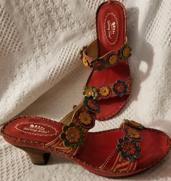 55b524e79 Spring Step Shoes | Sandals 377 Us Ambrosia Kitten Heel | Poshmark